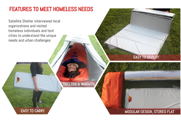 Personal Emergency Shelters : Design ignites change projects satellite shelter